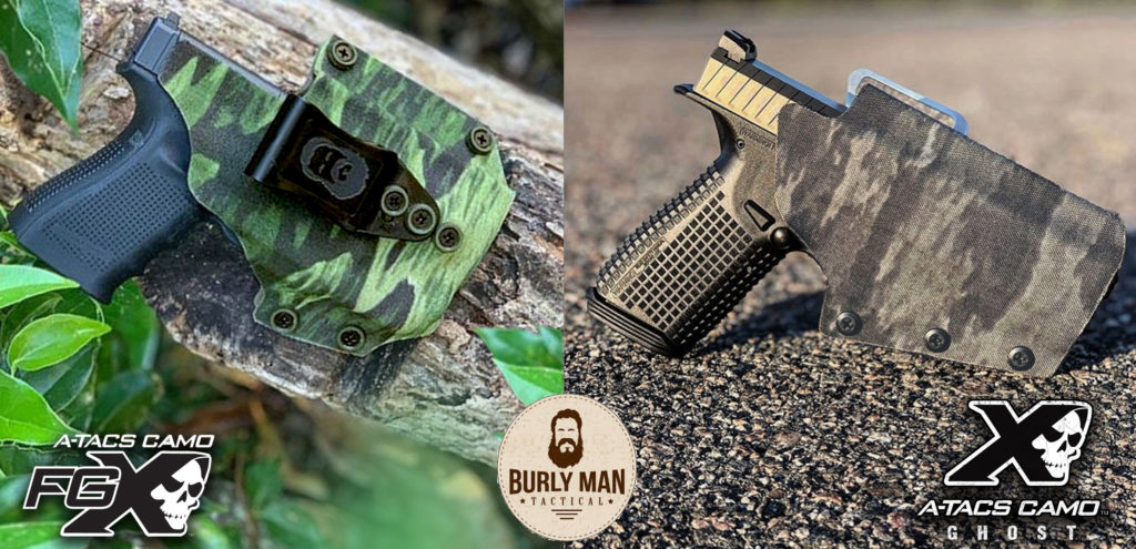 A-TACS Laminated Sheet Kydex and Holsters from Burly Man Tactical